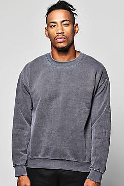 Oversized Washed Sweatshirt