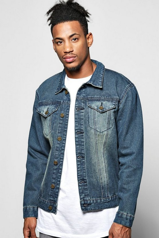 Overdyed Washed Denim Jacket