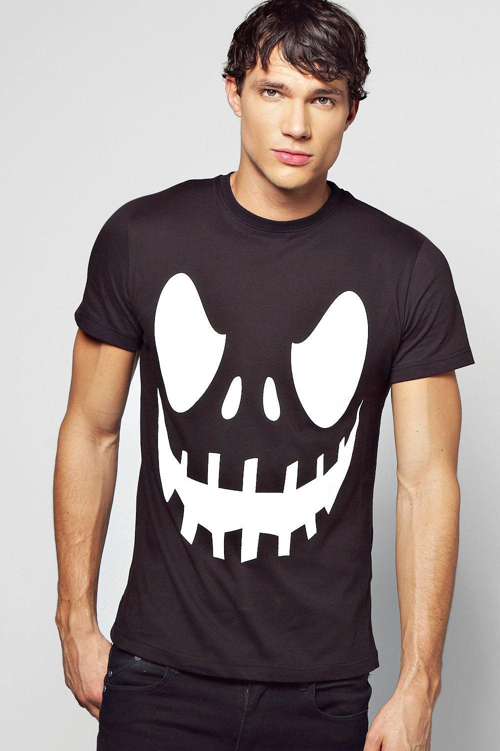 Scary Face Halloween Print T Shirt