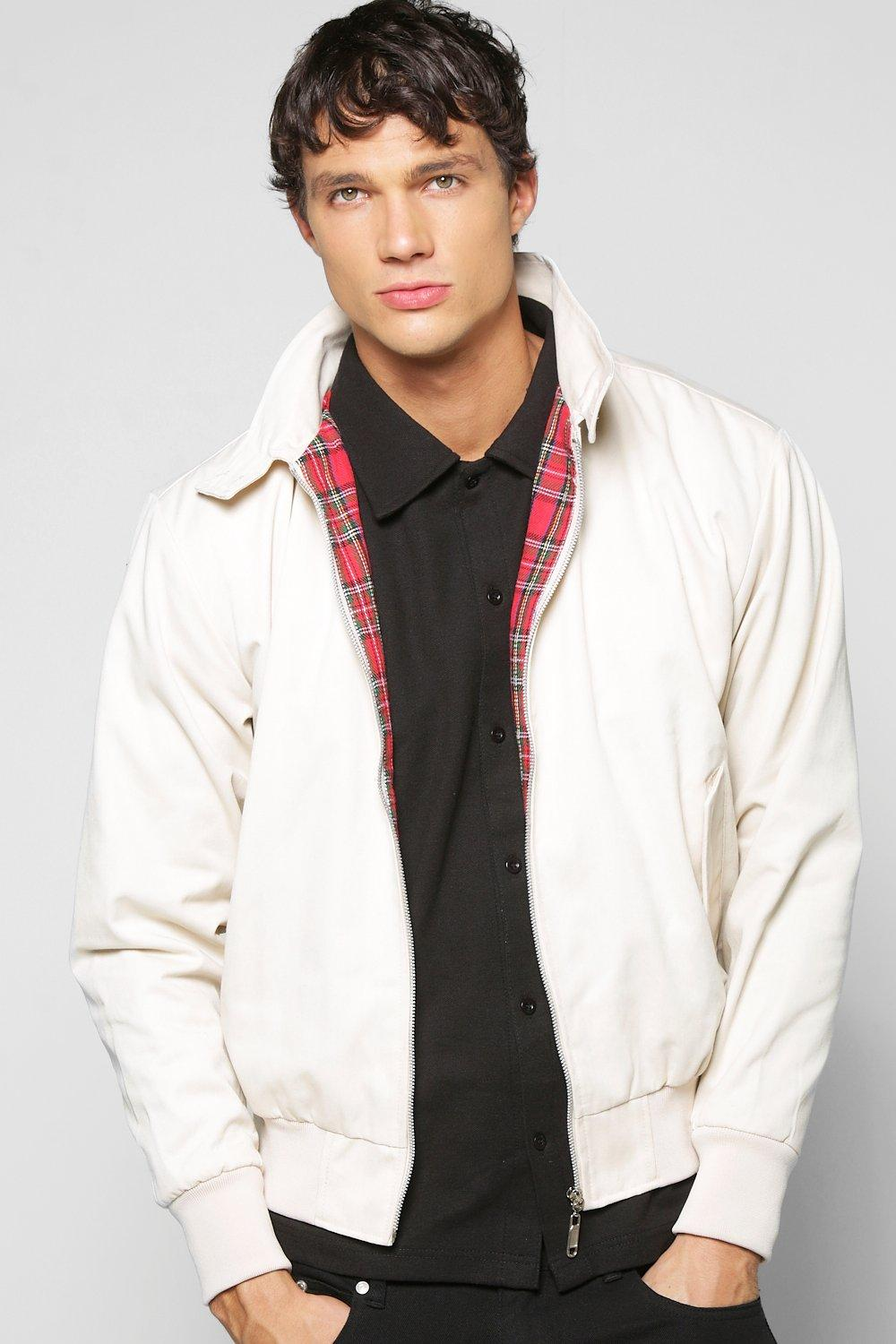 Classic Tartan Lined Harrington Jacket