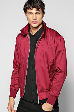 Men's Vintage Style Coats and Jackets Classic Tartan Lined Harrington Jacket $44.00 AT vintagedancer.com