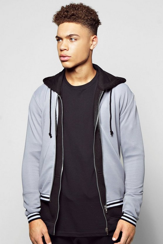 Ribbed Sports Bomber