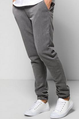 Smart Cuffed Woven Trousers