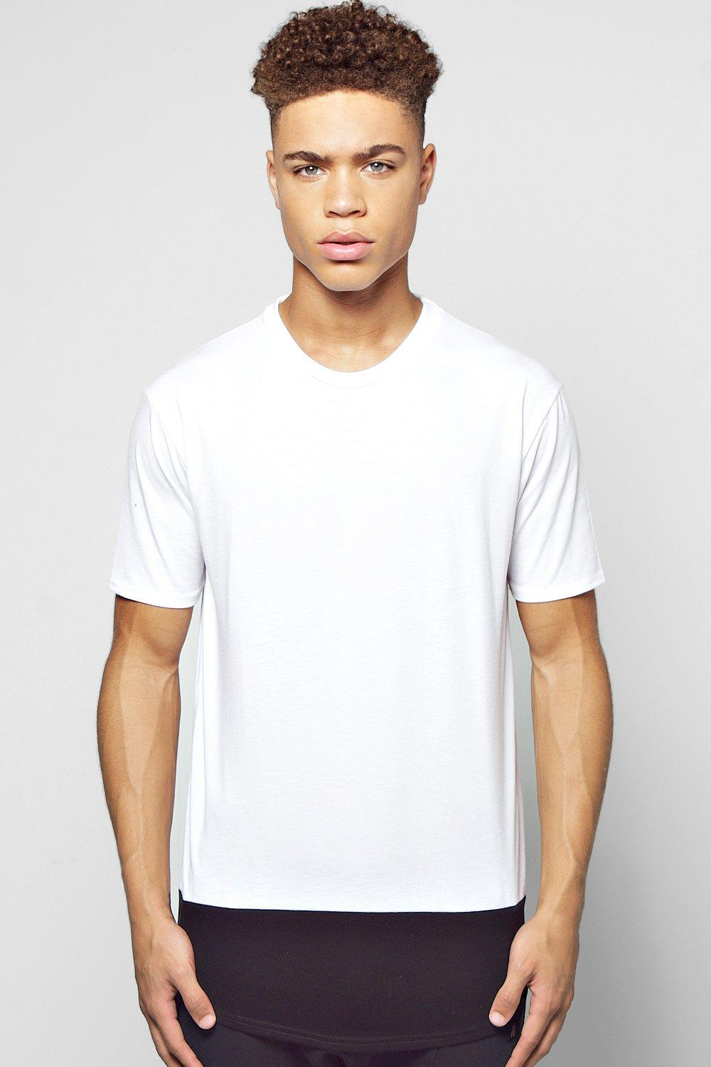 Longline Oversized T-Shirt With Curved Hem