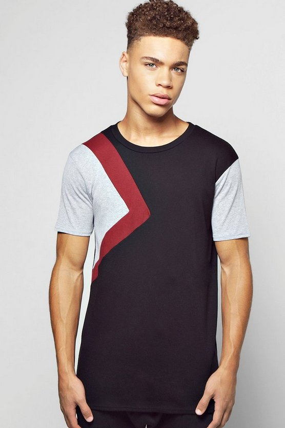 Skater Spliced Panel T-Shirt