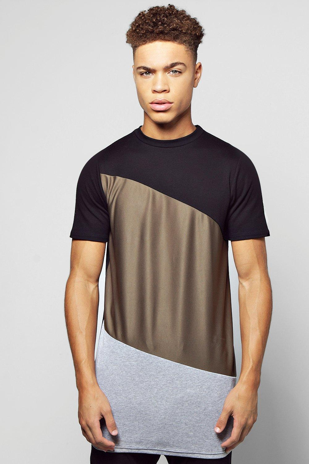 Longline Spliced T-Shirt