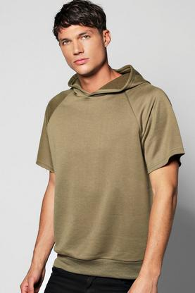 Oversized Longline Raglan Hoodie With Side Splits