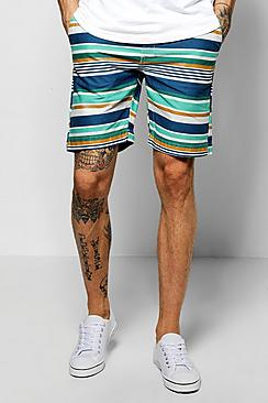 Multistripe Chino Short