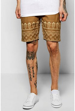 Aztec Panel Print Chino Short