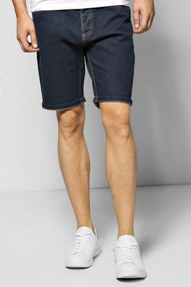 Dark Wash Denim Turn Up Shorts