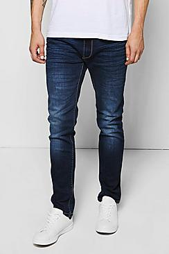 Slim Fit Mid Wash Blue Jeans