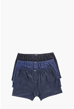 3 Pack Plain Jersey Boxers