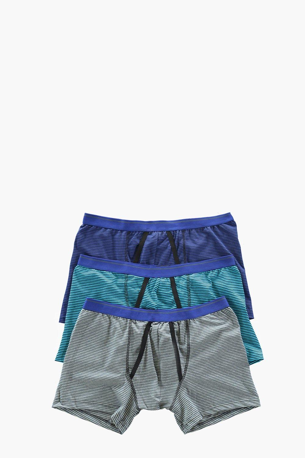 3 Pack Yarn Dye Striped Boxers