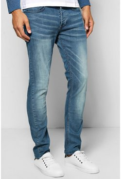 Slim Fit Light Blue Sandblasted Jeans