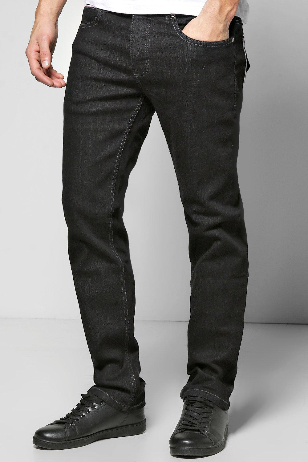 Slim Fit Washed Black Jeans