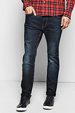 Slim Fit Dark Wash Jeans