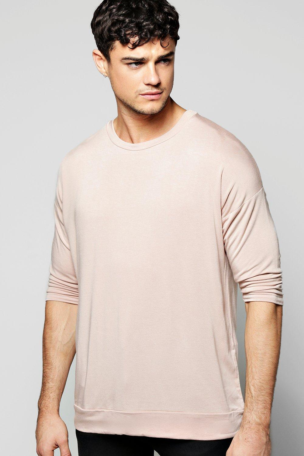 Oversized Raglan 3/4 Sleeve Sweatshirt