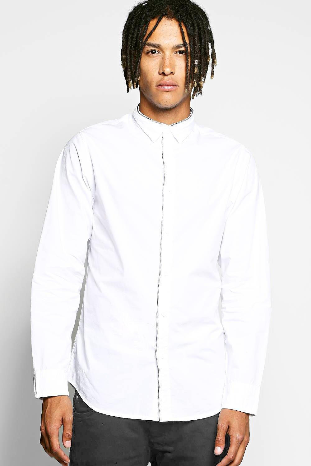 Long Sleeve Zip Detail Shirt