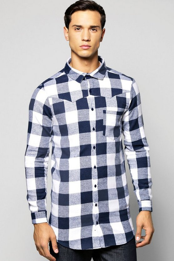Long Sleeve buffalo Longline Shirt