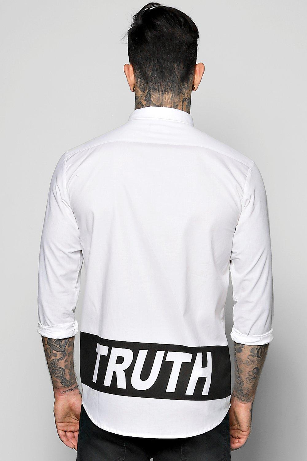 Truth Mono Print Long Sleeve Shirt