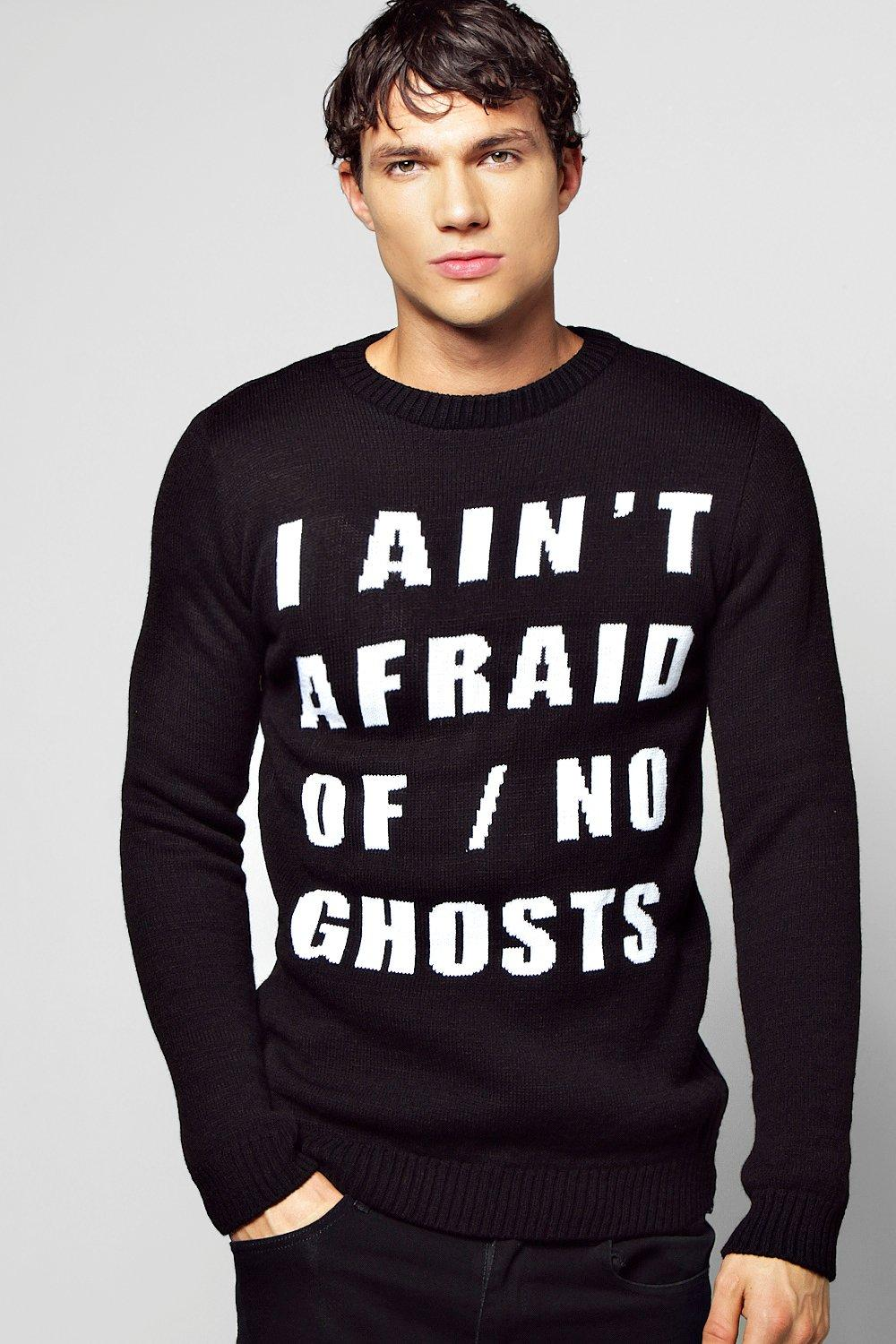 Halloween 'Ghosts' Slogan Sweater