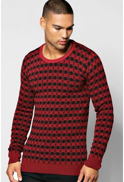 Two Colour Knitted Jumper