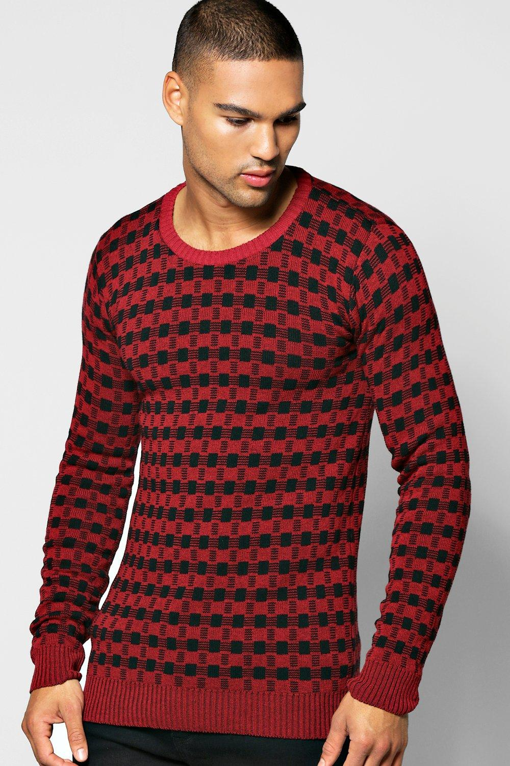 Two Colour Knitted Sweater
