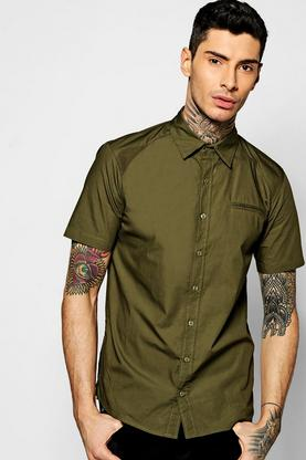 Short Sleeve Button Through Shirt With 2 Side Zips