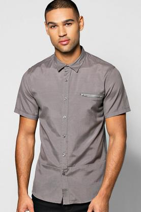 MA1 Styling Smart Shirt With Stepped Hem