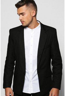 Smart Flecked Single Breasted Jacket