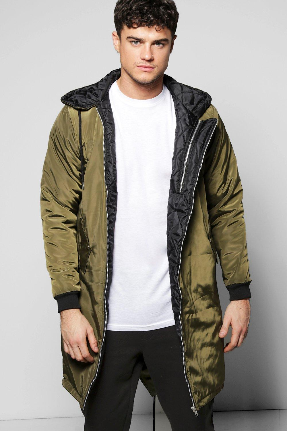 Padded Longline Hooded Parka