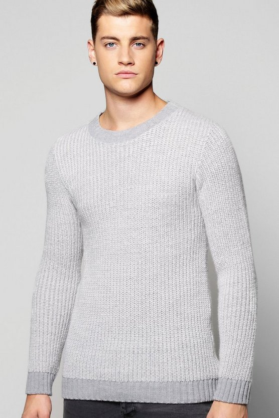 Birdseye Crew Neck Jumper