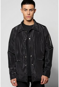 Nylon MA1 Sleeved Coach Jacket