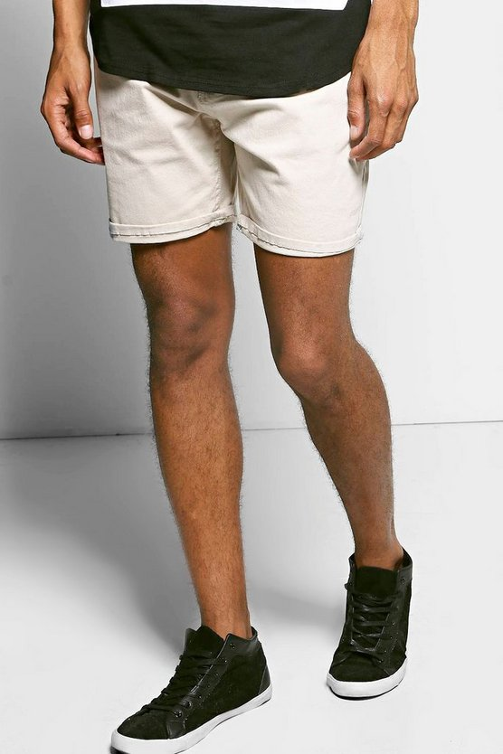 Cotton Twill Turn Up Chino Short