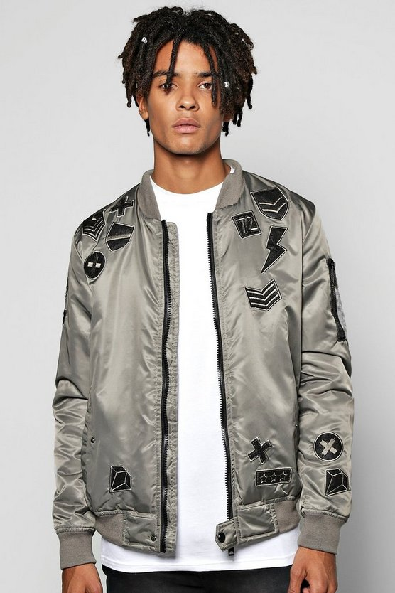 Tonal Badged Padded Bomber