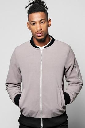 Smart Melton Bomber With Shoulder Zip