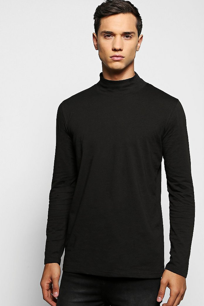 Long Sleeve High Neck T Shirt