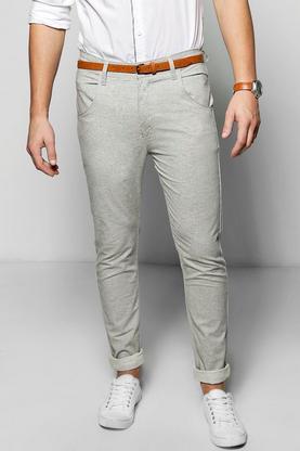 Smart Woven Flecked Chino Trousers