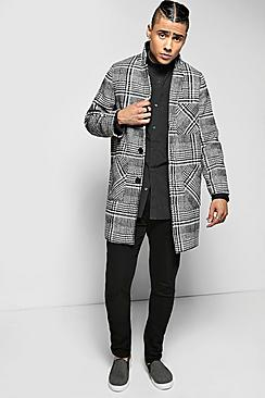 Quincy Dogtooth Woven Peacoat