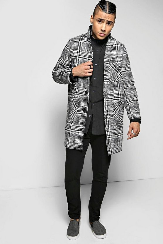 Dogtooth Woven Peacoat