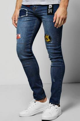Super Skinny Badged Jeans