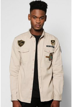 Badged Military Shirt