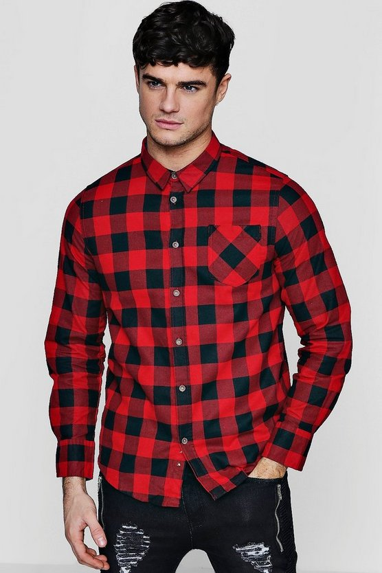Brushed Check Buffalo Long Sleeve Shirt