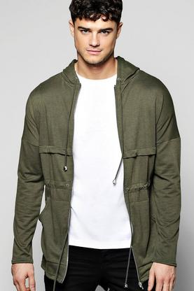 Jersey Hooded Fishtail Parka
