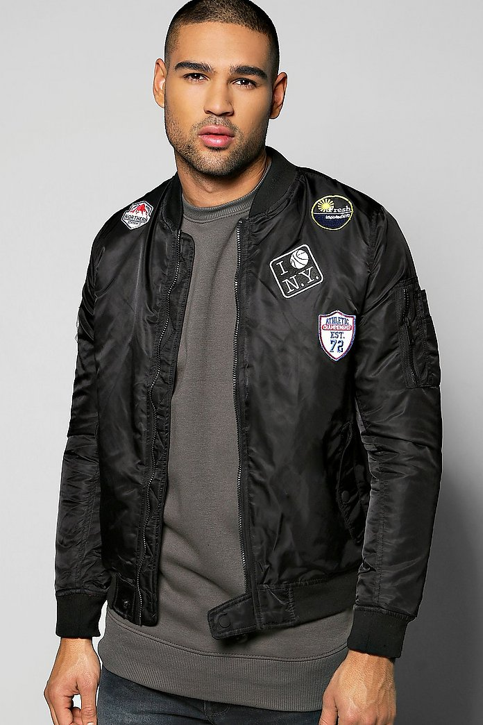 Badged MA1 Bomber