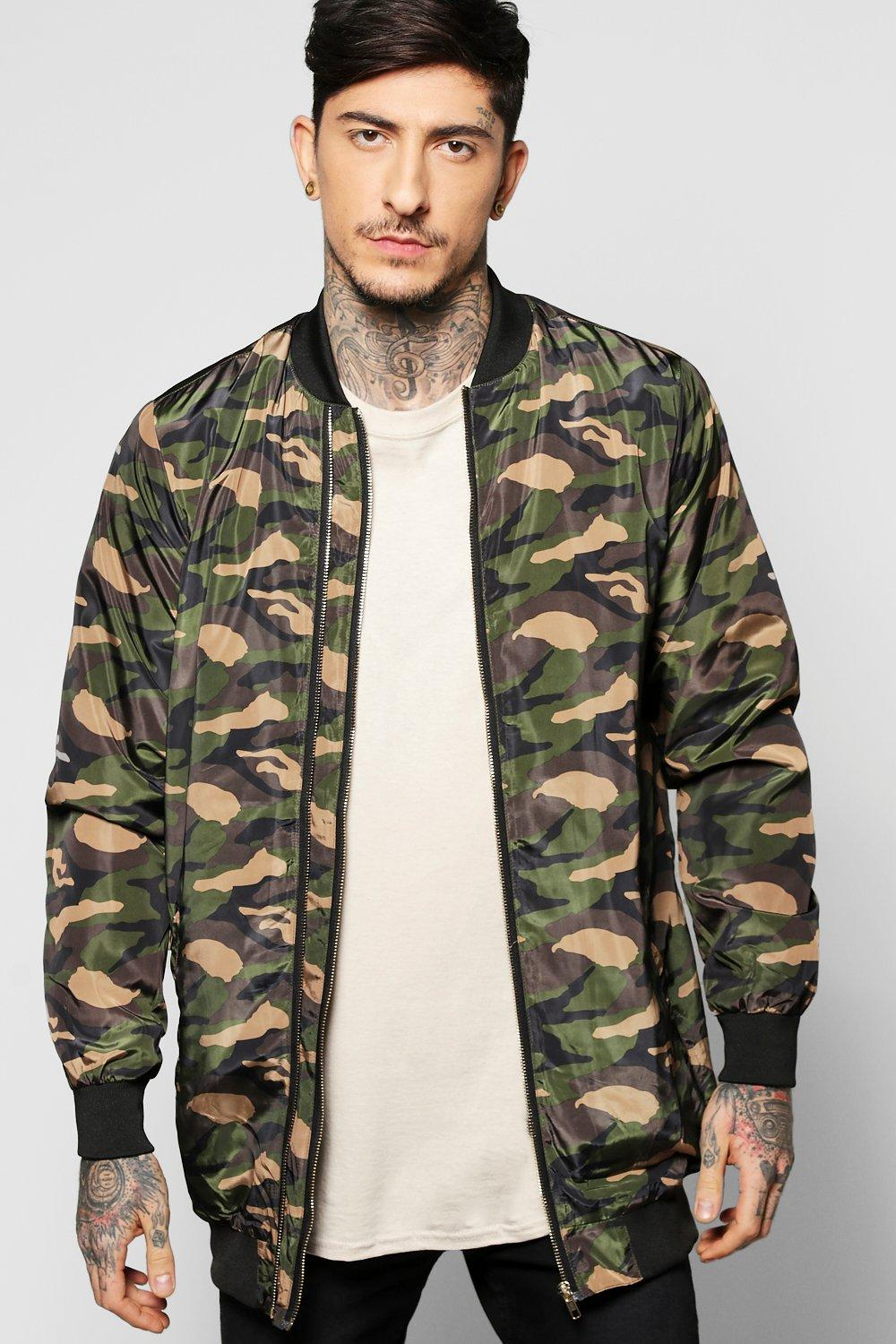 Image of All Over Camo Multi Zip Jacket - khaki