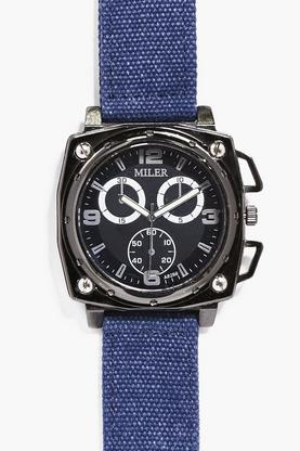 Oversized Faced Watch With Canvas Straps