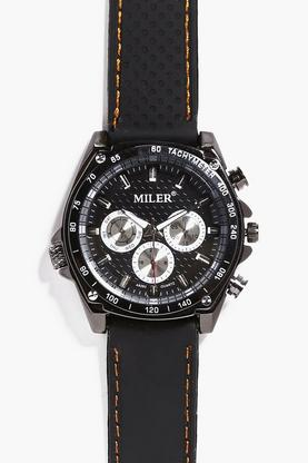 Multi Dial Black Faced Watch