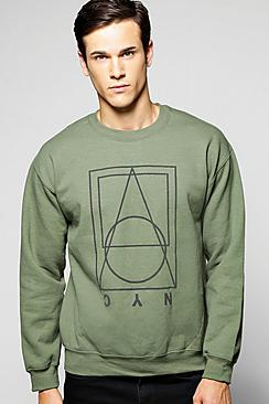 3D Print NYC Crew Neck Sweater
