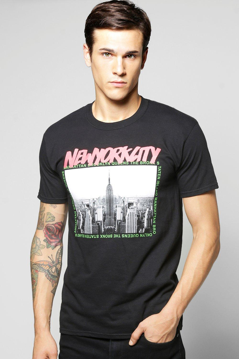 New York City Print T Shirt